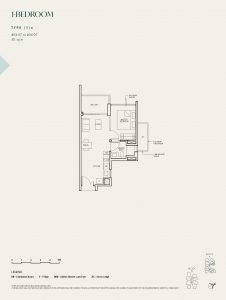 The-Avenir-Floor-Plan-1-bedroom-type-1a-singapore