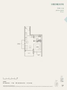 The-Avenir-Floor-Plan-1-bedroom-type-1b-singapore