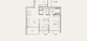 The-Avenir-Floor-Plan-2-bedroom-type-2a-singapore