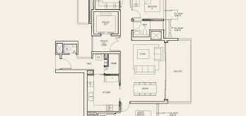 The-Avenir-Floor-Plan-2-bedroom-type-2b-singapore