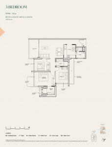 The-Avenir-Floor-Plan-3-bedroom-type-3a-singapore