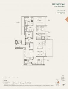 The-Avenir-condo-Floor-Plan-3-bedroom-private-lift-type-(3L)a-singapore