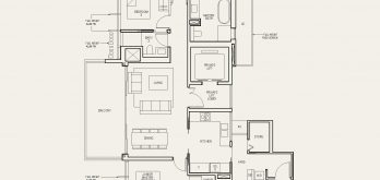 The-Avenir-condo-Floor-Plan-3-bedroom-private-lift-type-(3L)b-singapore