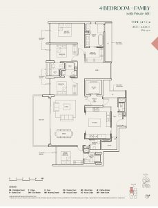The-Avenir-condo-Floor-Plan-4-bedroom-private-lift-type-(4+1)a-singapore