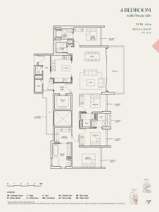 The-Avenir-condo-Floor-Plan-4-bedroom-private-lift-type-4a-singapore
