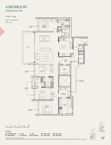 The-Avenir-condo-Floor-Plan-4-bedroom-private-lift-type-4b-singapore